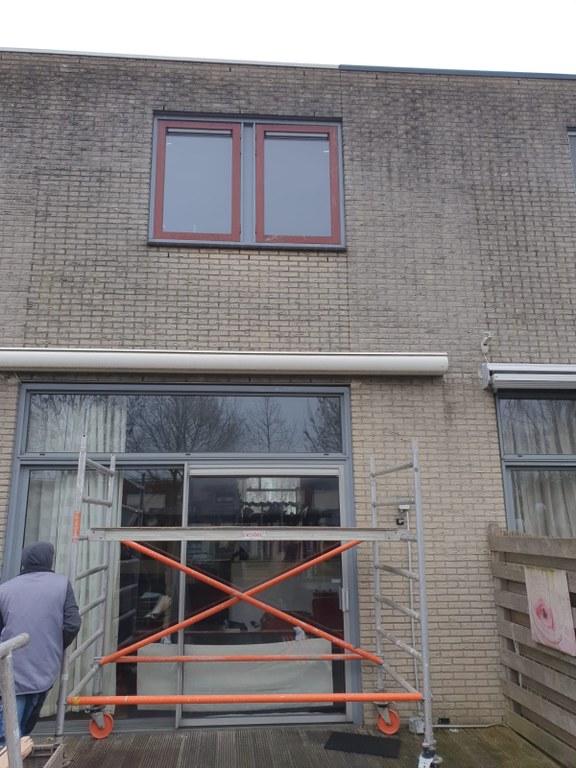 Nieuw kunststof raam voor een woning in Almere Tussen de Vaarten op 1/3
